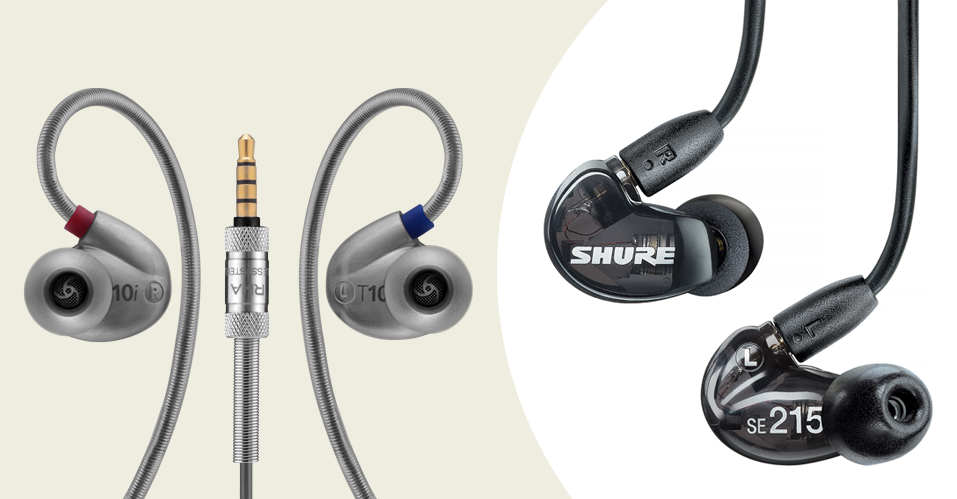 Shure SE215 vs RHA t10i Earphones